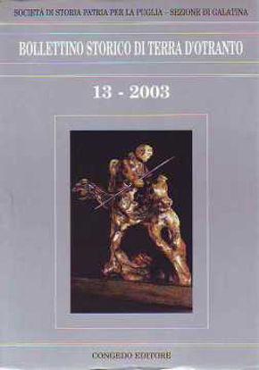 Immagine di Bollettino Storico di Terra d'Otranto n° 13-2003