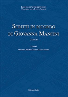 Immagine di SCRITTI IN RICORDO DI GIOVANNA MANCINI (2 TOMI)