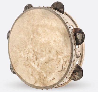 Immagine di Tamburello in legno cm 30 con sonagli TAMBURO A CORNICE CUGNU