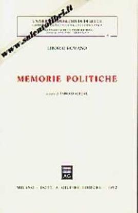Immagine di Memorie politiche (Liborio Romano)