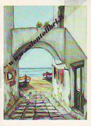 Immagine di CARTOLINA 11 X 16 QUADRO G. SCANDEREBECH - VICOLO DEL SALENTO