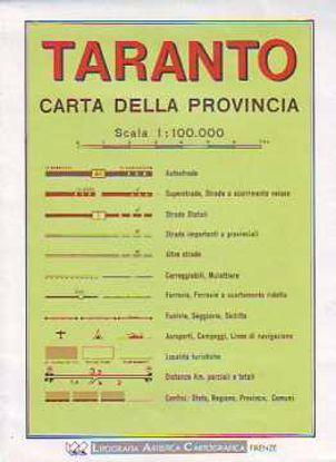 Immagine di Taranto. Carta stradale provinciale 1:100.000