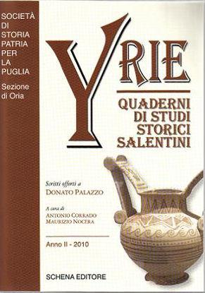 Immagine di Yrie - Quaderni di Studi Storici Salentini