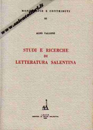 Immagine di Studi e ricerche di Letteratura salentina