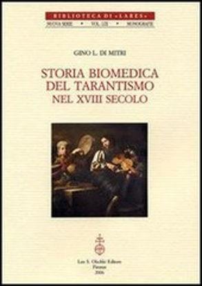 Immagine di STORIA BIOMEDICA DEL TARANTISMO NEL XVIII SEC