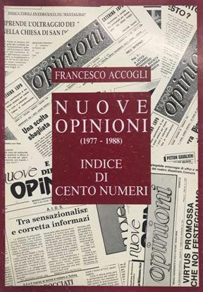 Immagine di NUOVE OPINIONI 1977 1988 - INDICE DI CENTO NUMERI