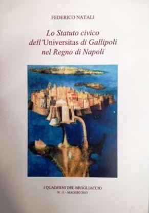 Immagine di STATUTO CIVICO DELL`UNIVERSITA` DI GALLIPOLI NEL REGNO DI NAPOLI