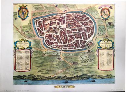 Immagine di PIANTA DI NARDO` - STAMPA - P.MORTIER , NOUVEAU THEATRE D`ITALIE - 1704 - CIVITAS NERITONENSIS