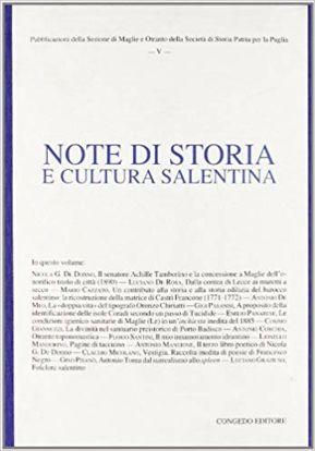 Immagine di NOTE DI STORIA E CULTURA SALENTINA - VOL. 5