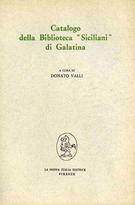 Immagine di Catalogo della Biblioteca «Siciliani» di Galatina