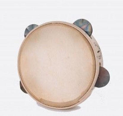 Immagine di Tamburello in legno cm 16 con sonagli TAMBURO A CORNICE NZURTU