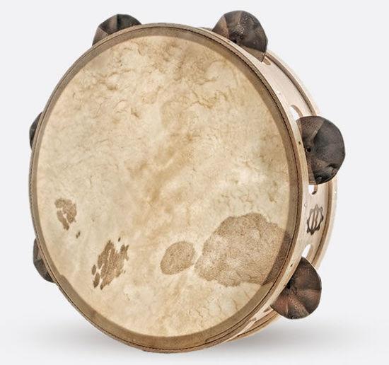 Immagine di Tamburello in legno cm 30 con sonagli TAMBURO A CORNICE POPOLARE