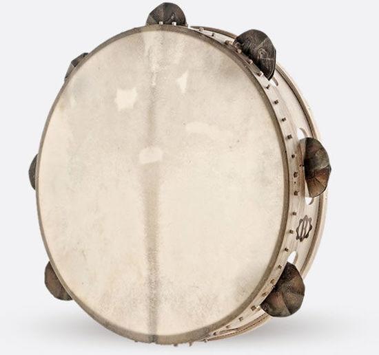 Immagine di Tamburello in legno cm 35 con sonagli TAMBURO A CORNICE TRICIU