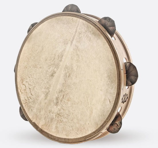 Immagine di Tamburello in legno cm 35 con sonagli TAMBURO A CORNICE BALLU