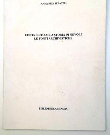 Immagine di CONTRIBUTO ALLA STORIA DI NOVOLI. LE FONTI ARCHIVISTICHE