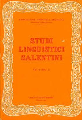 Immagine di STUDI LINGUISTICI SALENTINI VOL. 5
